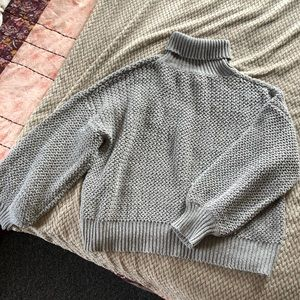 Cozy knit gray sweater